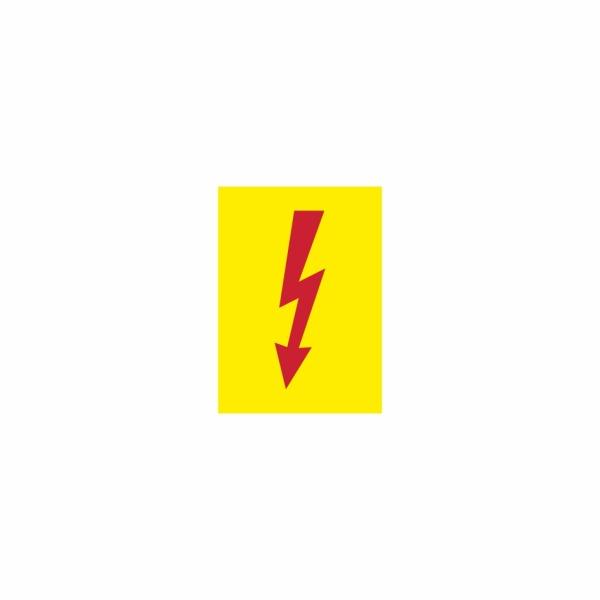 29 Blesk žltý - označovacia elektrotechnická značka