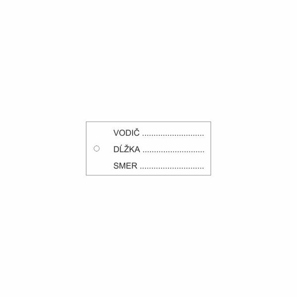 37 Káblový štítok plastový - označovacia elektrotechnická značka