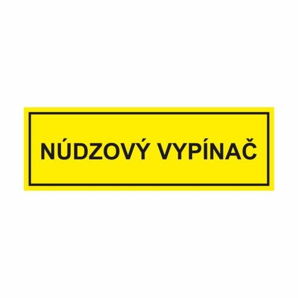 40 Núdzový vypínač - označovacia elektrotechnická značka