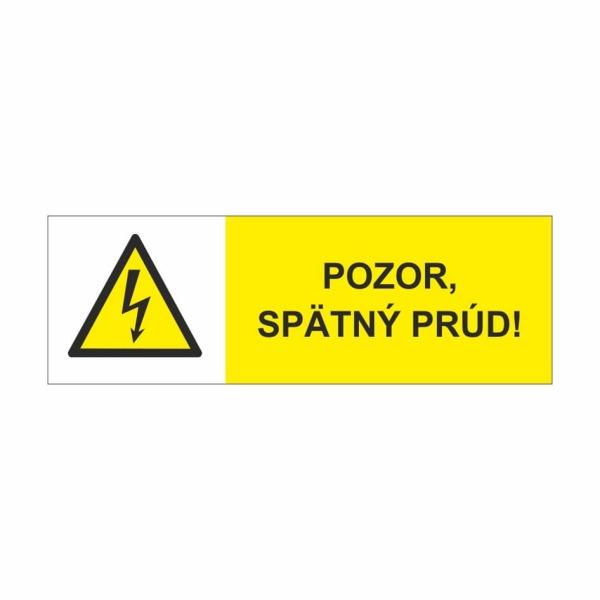 42 Pozor spätný prúd - označovacia elektrotechnická značka