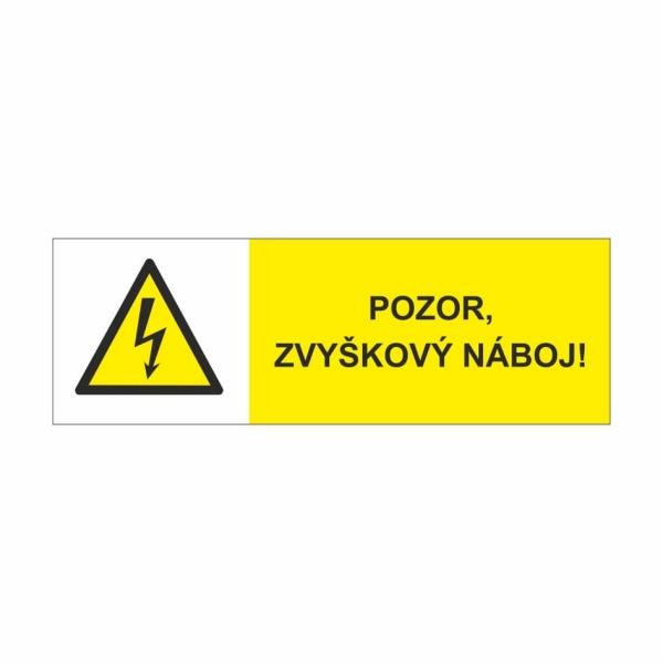 43 Pozor zvyškový náboj - označovacia elektrotechnická značka
