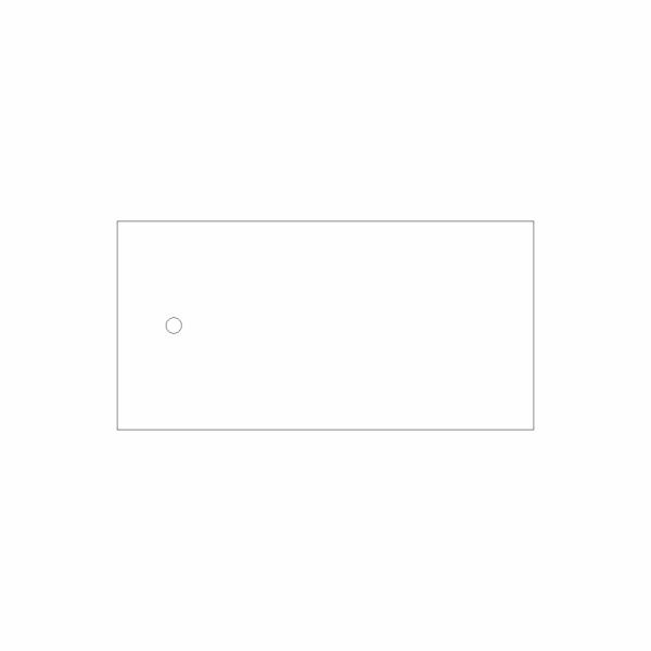 48 Káblový štítok plastový bez popisu - označovacia elektrotechnická značka