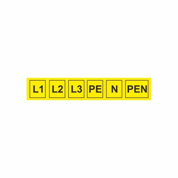 932 Sada L1-PEN - označovacia elektrotechnická značka