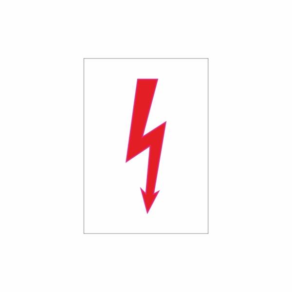 E001SE blesk biely - elektrotechnická značka