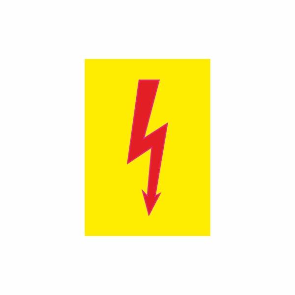 E002SE blesk žltý - elektrotechnická značka