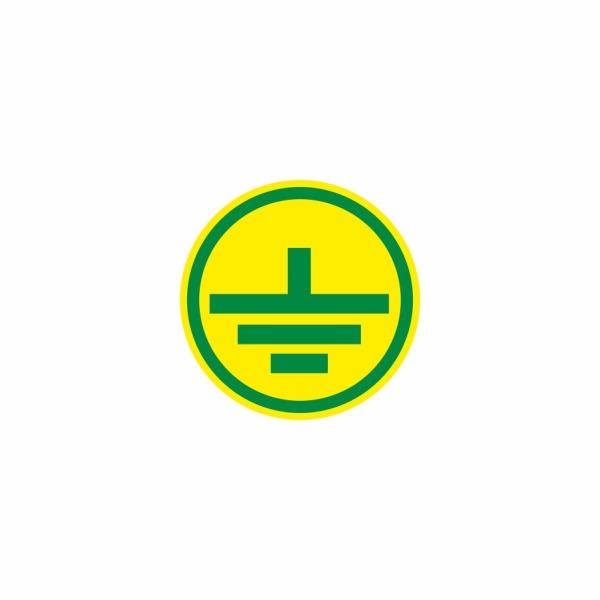 E013SE uzemnenie zelené - elektrotechnická značka