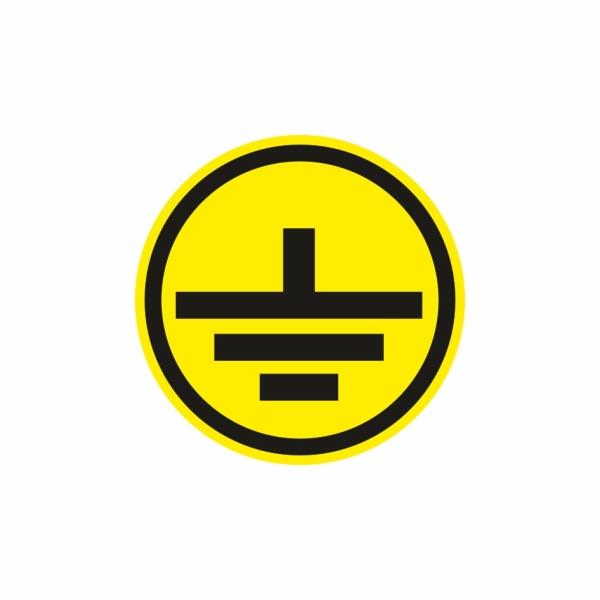 E014SE uzemnenie čierne - elektrotechnická značka