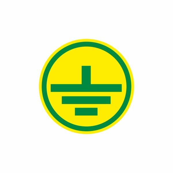 E014SE uzemnenie zelené - elektrotechnická značka