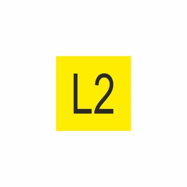 E016SE L2 - označovacia elektrotechnická značka