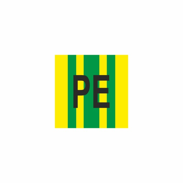 E019SE PE - označovacia elektrotechnická značka