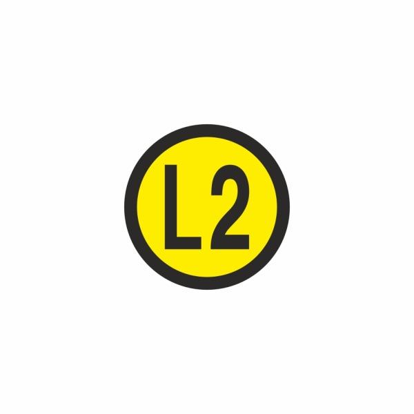 E022SE L2 - označovacia elektrotechnická značka