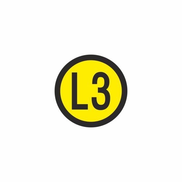 E023SE L3 - označovacia elektrotechnická značka