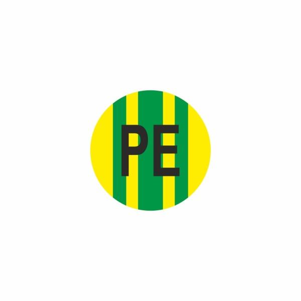 E027SE PE - označovacia elektrotechnická značka