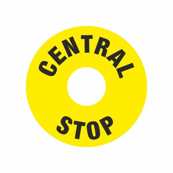 E031SE Terčík pod centrál stop - elektrotechnická značka
