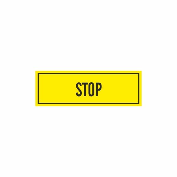 E039SE Stop - označovacia elektrotechnická značka