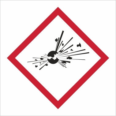 Symbol GHS 01 - Označenie výbušných látok