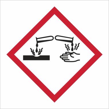 Symbol GHS 05 - Označenie korozívnych a žieravých látok