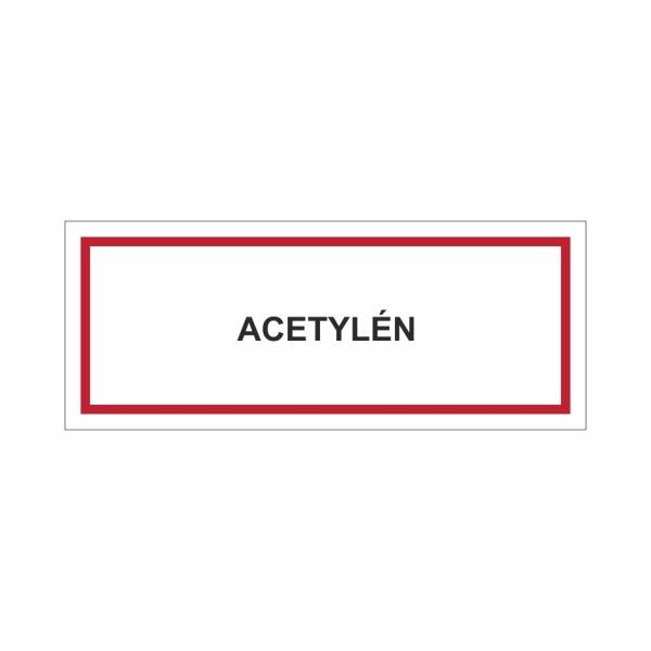Acetylén - textová značka M15
