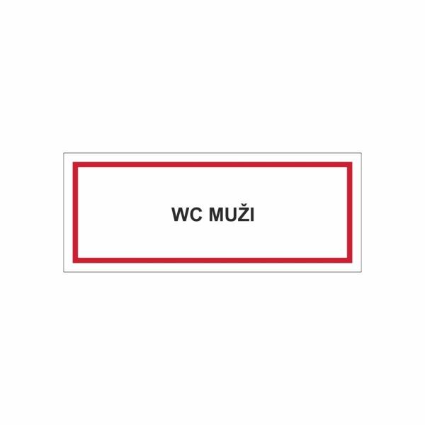 WC muži - textová značka M40