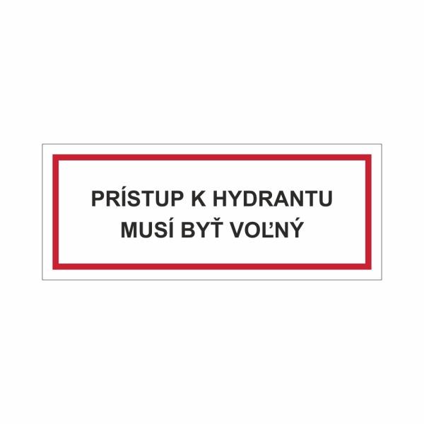 Prístup k hydrantu musí byť voľný - textová značka M54