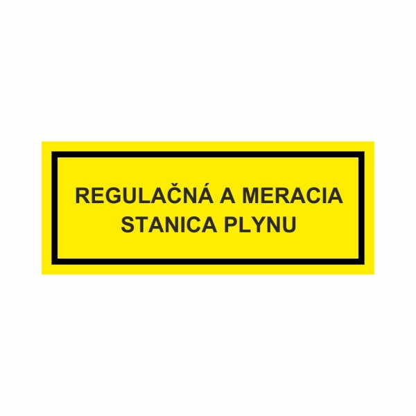 Regulačná a meracia stanica plynu - textová značka M59