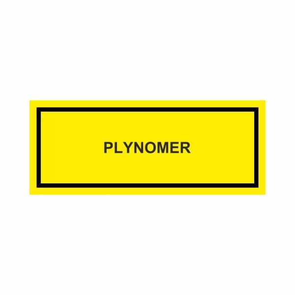 Plynomer - textová značka M60