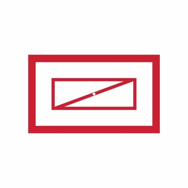Požiarna klapka symbol - označenie požiarneho uzáveru