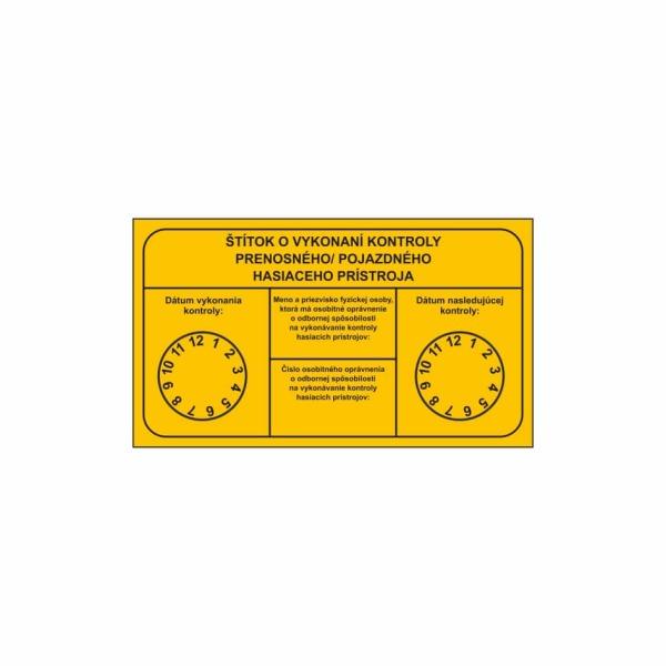 R002 - Revízny štítok o vykonaní kontroly hasiaceho prístroja