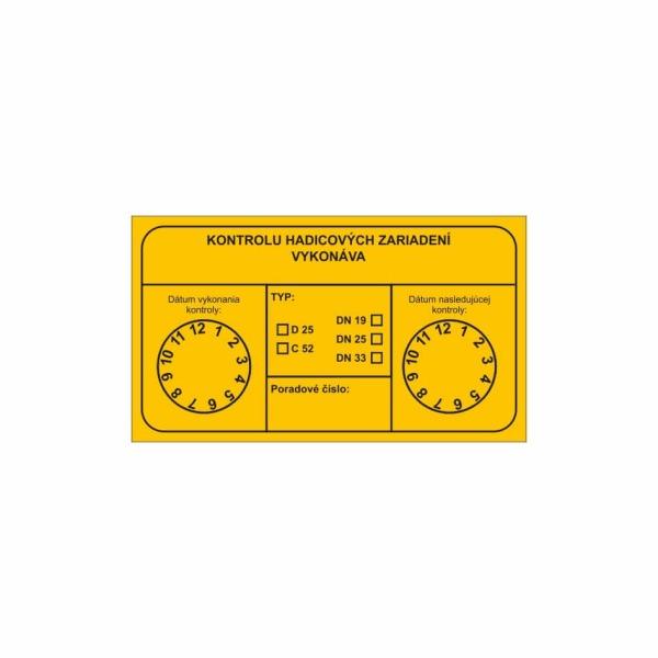 R004 - Revízny štítok o vykonaní kontroly hadicového zariadenia