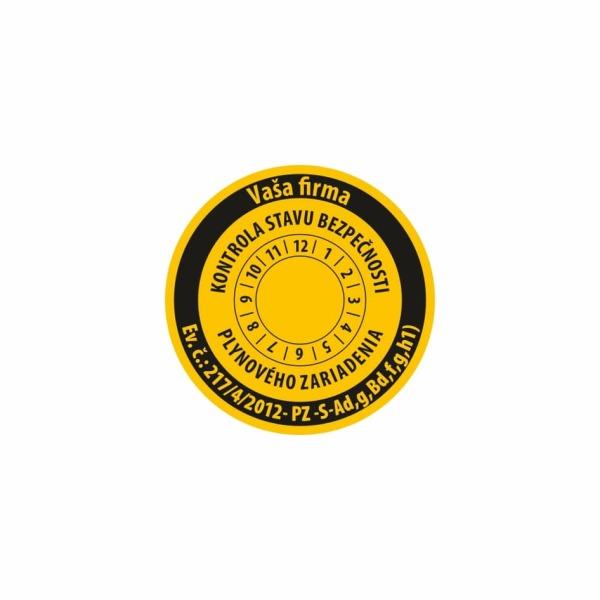 R008 - Štítok o vykonaní kontroly stavu bezpečnosti plynového zariadenia