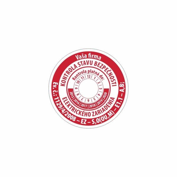 R009 - Štítok o vykonaní kontroly stavu bezpečnosti elektrického zariadenia