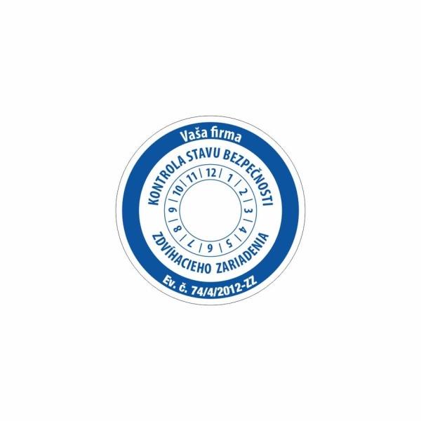 R011 - Štítok o vykonaní kontroly stavu bezpečnosti zdvíhacieho zariadenia
