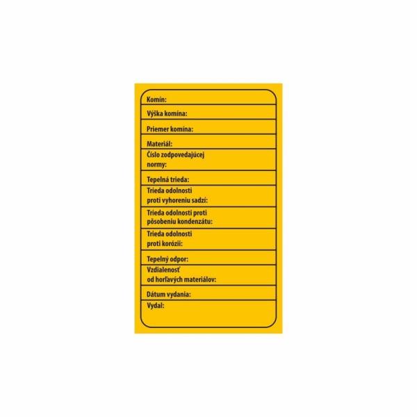 R012 - Popisovateľný štítok o vykonaní kontroly komína